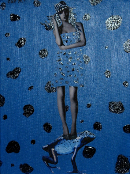 collage blue fashion