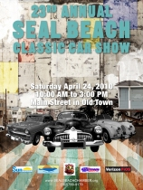 poster seal beach classic carshow