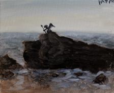 gargoyle on the rocks sized