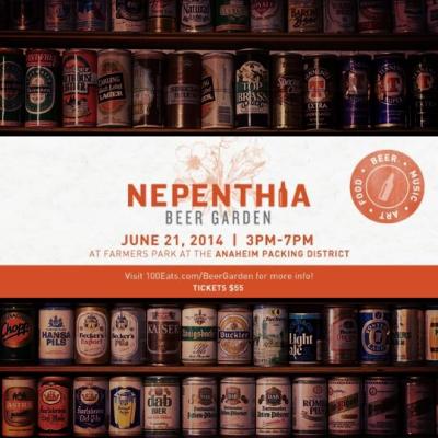 nepenthia beer garden flyer