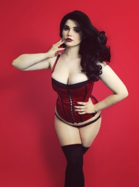red corset sized