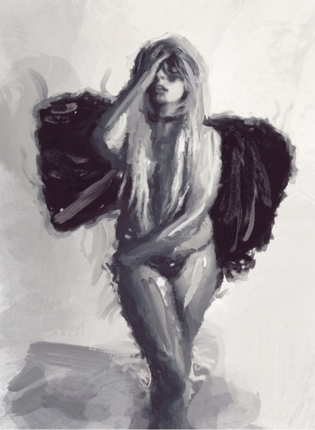 white angel sized