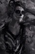 black and white skull sized