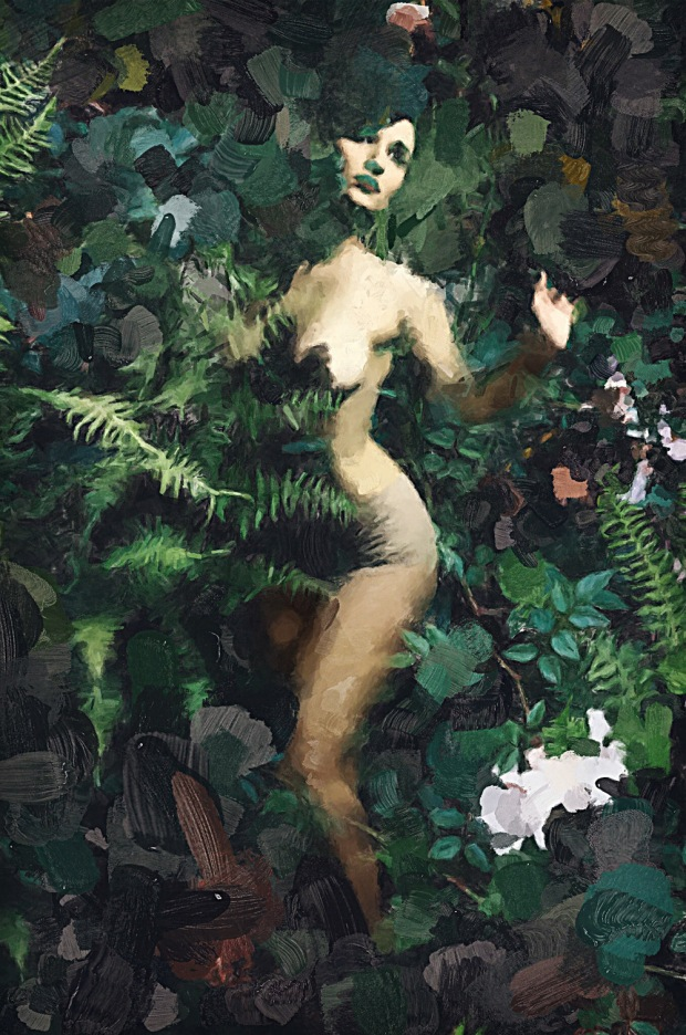 poison ivy painting sized